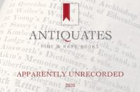 Antiquates Fine and Rare Books - Apparently Unrecorded