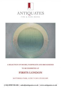 Preview image of A SELECTION OF BOOKS, PAMPHLETS AND BROADSIDESTO BE EXHIBITED AT FIRSTS LONDON